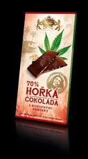 Hořká čokoláda s konopným semínkem 80 g