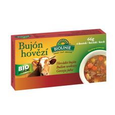Bujón hovězí - kostky 6 x 0,5 l  BIOLINIE 66 g