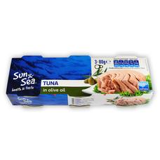 Tuňák v olivovém oleji 3x80 g SUN & SEA