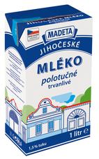 Jihočeské mléko trvanlivé polotučné 1 l