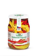 Balkánské feferony 370 ml. Jemně pálivé.