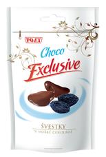 Švestky kandované v hořké čokoládě 500 g