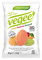 Organic Vegee chips carrot, beetrot, broccoli 85 g