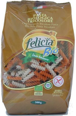 Těstoviny Felicia BIO rýžové fusilli, tricolore 500 g