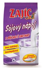 Sójový nápoj Zajíc s příchutí smetany 400 g – sáček