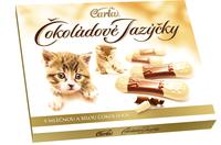 Čokoládové jazýčky bílo-mléčné 100 g