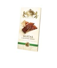 Mléčná čokokoláda s lískovými ořechy - obdélník 80 g