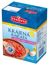 Podravka rajčata krájená s olivovým olejem a česnekem 390 g