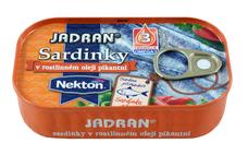 JADRAN sardinky v rostlinném oleji pikantní 125 g