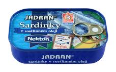JADRAN Sardinky v rostlinném oleji 125 g