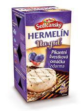 Sedlčanský Hermelín  na gril s pikantní švestkovou omáčkou (4 porce) 450 g