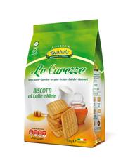 Le Carezze -  sušenky s mlékem a medem 300 g
