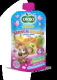 Dojčenská výživa - Jablko, karotka a banán bez prídavku cukru 120 g
