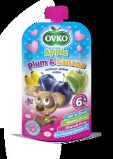Dojčenská výživa - Jalko, slivka a banán bez prídavku cukru 120 g