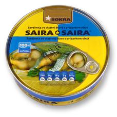 SAIRA*SAIRA sardinela ve vlastní šťávě s přídavkem oleje 240 g SOKRA