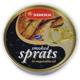 Uzené šproty v rostlinném oleji 160 g SOKRA