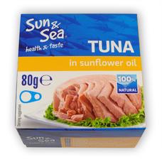 Tuňák ve slunečnicovém oleji 80 g SUN & SEA
