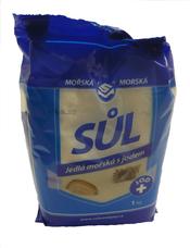 Morská jedlá soľ jódovaná 1 000 g