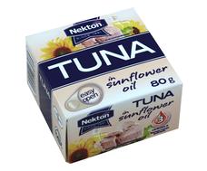 Tuňák ve slunečnicovém oleji -  celý NEKTON 80 g