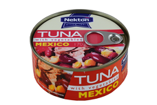 Tuňák kousky  se zeleninou MEXICO NEKTON 170 g
