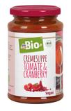 dmBio krémová paradajková polievka s brusnicami 375 ml