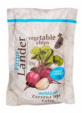 FarmLander chips červená řepa + celer s mořskou solí 35 g