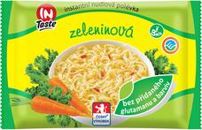 Instantní nudlová polévka INTASTE se zeleninovou příchutí bez přidaného glutamanu 60 g