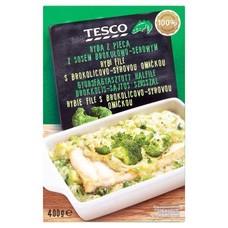 Rybí filé s brokolicovo-sýrovou omáčkou 400 g