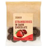 Kandované jahody v hořké čokoládě 100 g