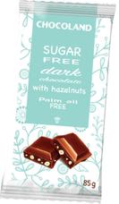 Čokoláda SUGAR FREE hořká s lískovými ořechy 85 g