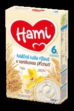 Hami Mléčná kaše rýžová s vanilkovou příchutí 225 g