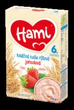 Hami Mléčná kaše rýžová jahodová 225 g