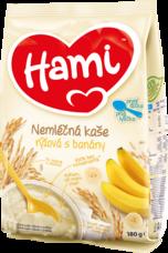 Hami nemléčná kaše rýžová s banány 180 g