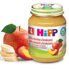 BIO Jablka s banány a broskvemi 125 g