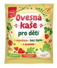 Ovesná kaše pro děti s vápníkem, ovocem, bez lepku, 50 g