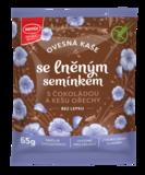 Ovesná kaše se lněným semínkem, čokoládou a kešu ořechy 65 g