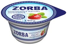 ZORBA smetanový jogurt jahodový 150 g