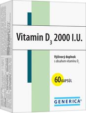 Vitamin D3 2000 I.U. 60 kapsúl