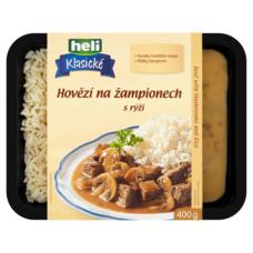Hovězí na žampiónech s rýží 400 g