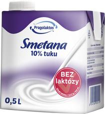 10% UHT smetana bez laktózy Mlékárna Pragolaktos 500 ml