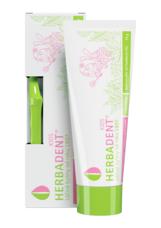 HERBADENT - dětská bylinná zubní pasta 75 g + dětský zubní kartáček
