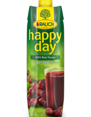 Happy Day šťáva z červených hroznů 100% 1 l