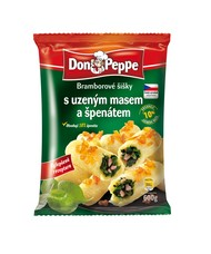 Don Peppe Bramborové šišky s uzeným masem a špenátem 600 g