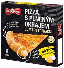 Don Peppe pizza s plněným okrajem Quattro Formaggi 480 g