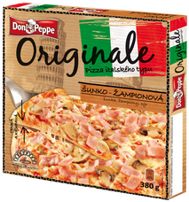 Don Peppe Originale pizza Šunka a žampiony 380 g