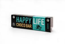 HAPPYLIFE CHOCO BAR - Chrumkavá čokoládová tyčinka s kúskami oblátok a kokosom BIO 35 g
