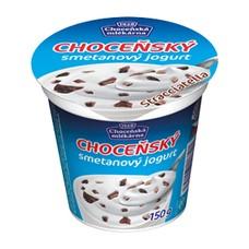 Choceňský smetanový jogurt 8% stracciatella 150 g