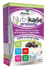 Nutrikaše probiotic Chia černý rybíz 180 g (3x60 g)