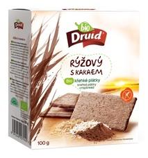 Bio křehké plátky rýžový s kakaem 100 g