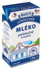 Jihočeské mléko trvanlivé polotučné 1,5% 1 l